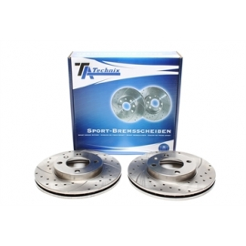 DISCOS TA TECHNIX RANHURADOS PERFURADOS VW GOLF 3 (239MM)